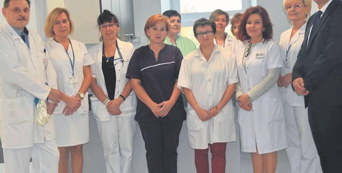 Podczas wczorajszego otwarcia zmodernizowanego oddziału neurologicznego obecni byli oczywiście lekarze i pielęgniarki.