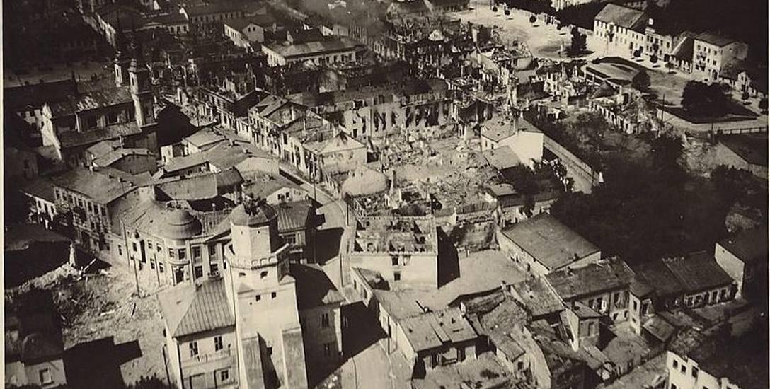 Zbombardowany przez Luftwaffe Wieluń, 1 września 1939 roku