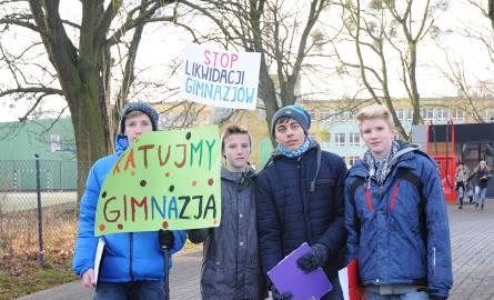 W grudniu w Poznaniu odbył się protest przeciwko likwidacji gimnazjów