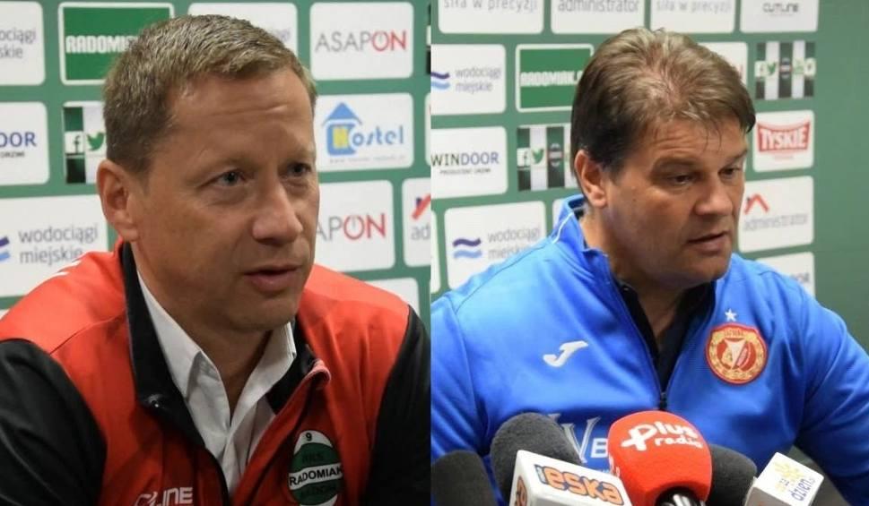 Film do artykułu: Radomiak Radom - Widzew Łódź. Konferencja prasowa trenerów po meczu 13. kolejki piłkarskiej drugiej ligi