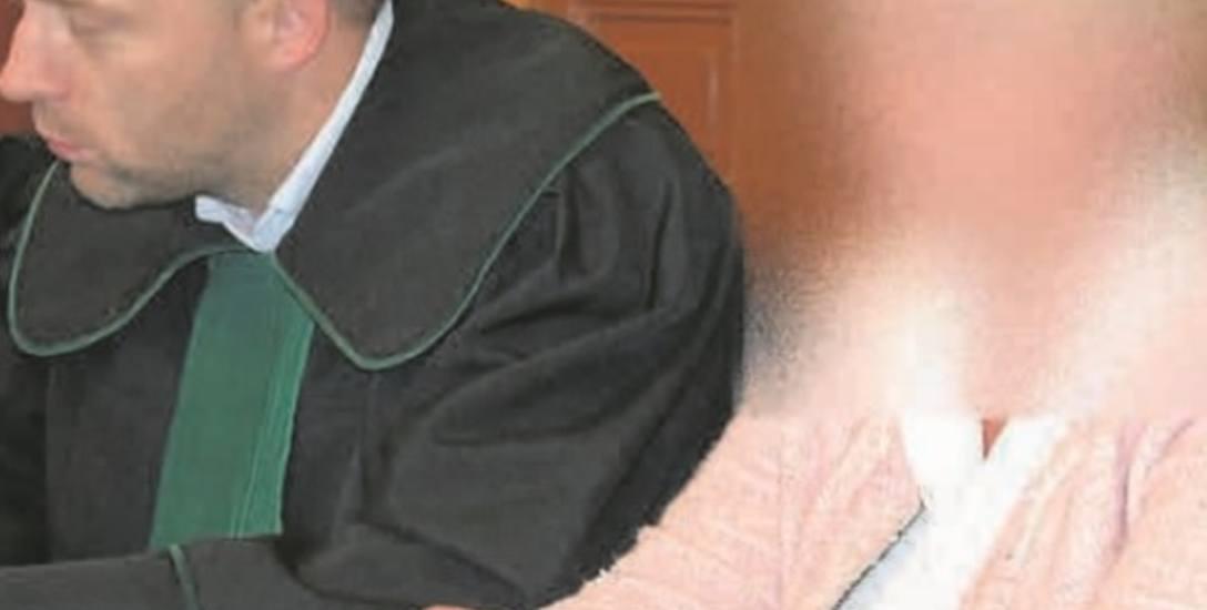 Elżbiety K., która nie przyznała się do winy, nie było na ogłoszeniu wyroku. Zdjęcie jest z wcześniejszej rozprawy.