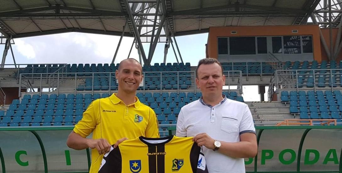 Kacper Maik, nowy piłkarz Siarki Tarnobrzeg uważa, że tarnobrzeskim klubie będzie się cały czas rozwijał