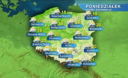 Pogoda na poniedziałek: ładnie, ciepło, ale możliwe burze WIDEO