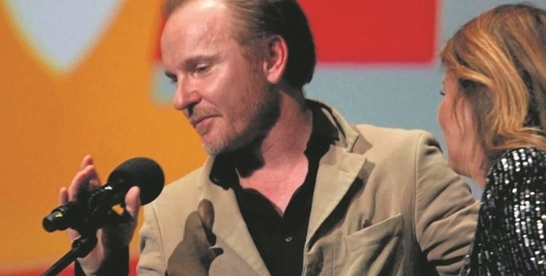 Jacek Borcuch podczas finałowej gali festiwalu Off Camera