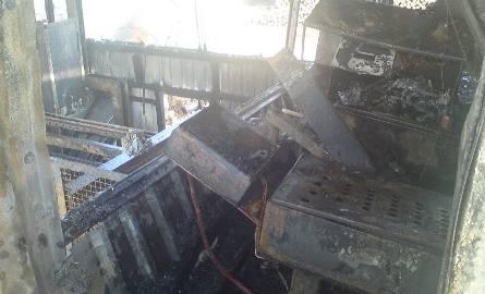 Pożar w tartaku w Trzebiczu koło Drezdenka