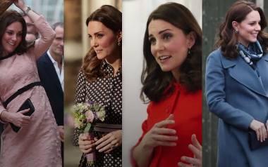Najlepsze ciążowe stylizacje księżnej Kate. Jakich projektantów wybiera?