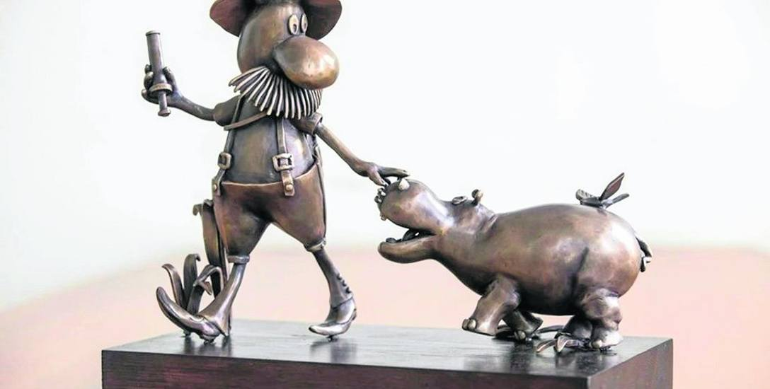 Tak będzie wyglądał pomnik Pampaliniego. Kompozycję wymyśliła rzeźbiarka Lidia Sztwiertnia