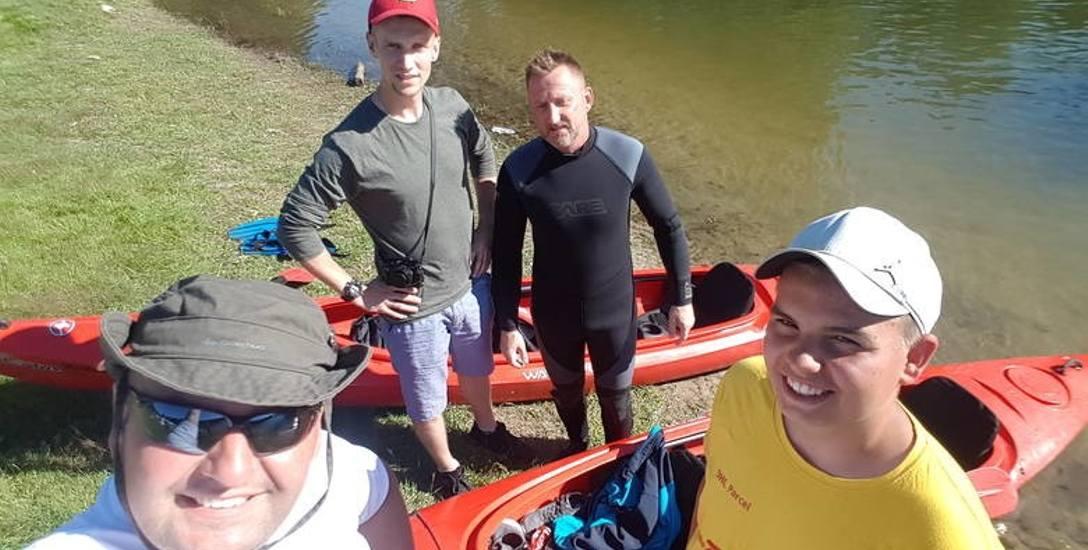 Od lewej Karol Górnowicz, Aron Górnowicz, Piotr Malewicz i Emil Górnowicz.