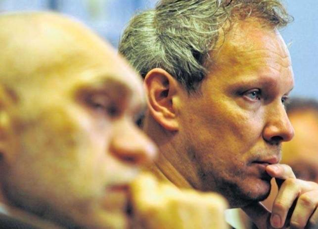 """Józef Herold, producent filmu (z lewej) i Robert Wichrowski, reżyser """"Ostatniej drogi"""""""