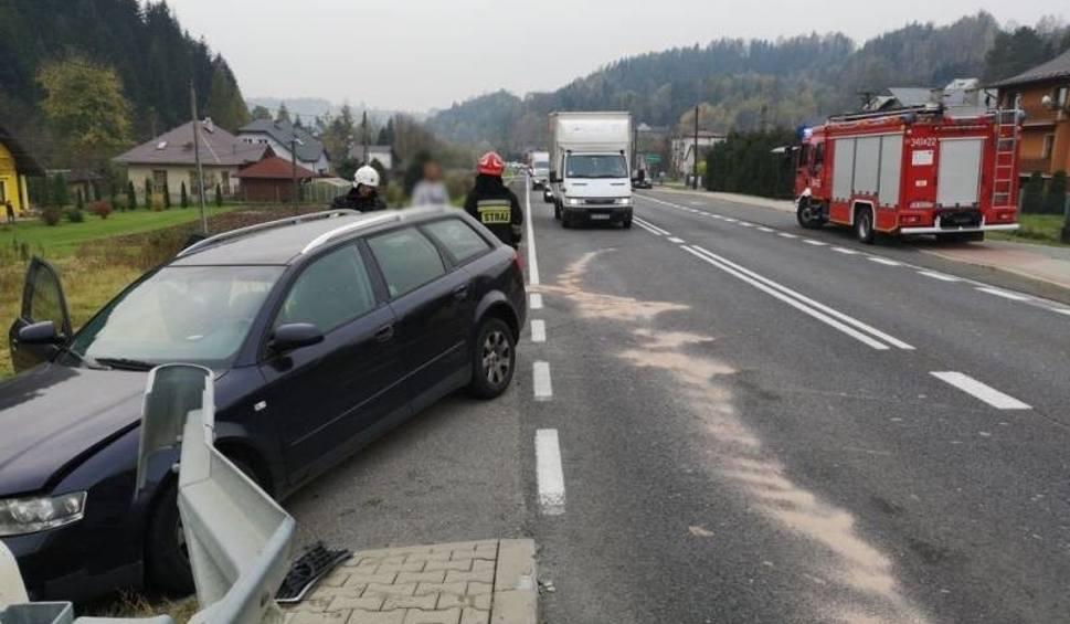 Film do artykułu: Wypadek w Piątkowej. Zderzyły się trzy samochody osobowe