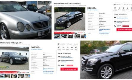 Także po ulicach naszego regonu jeżdżą efektowne auta. Zobacz, najdroższe samochody wystawione na sprzedaż na portalu gratka.pl.