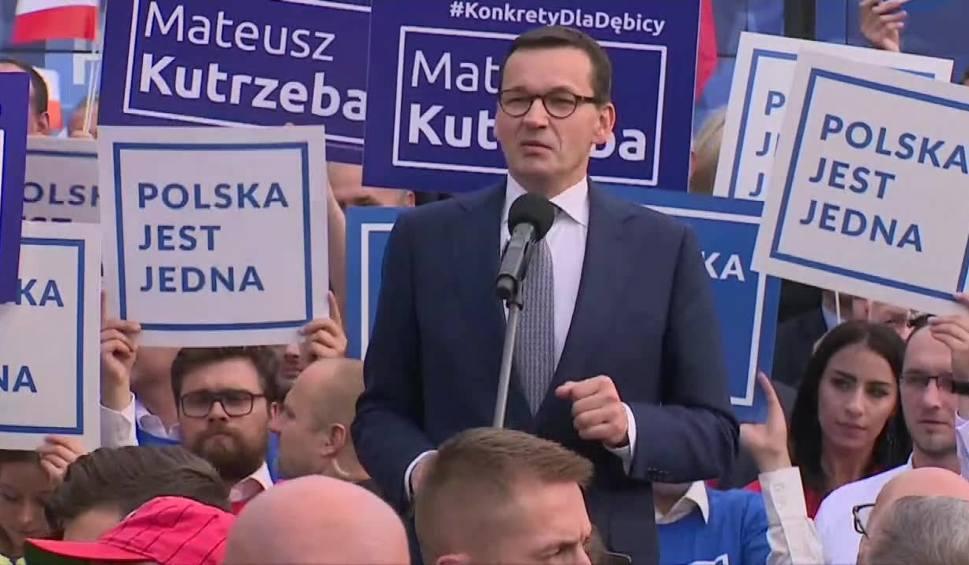 Film do artykułu: Premier Mateusz Morawiecki w Dębicy: My nie haratamy w gałę, tylko ciężko pracujemy [WIDEO]