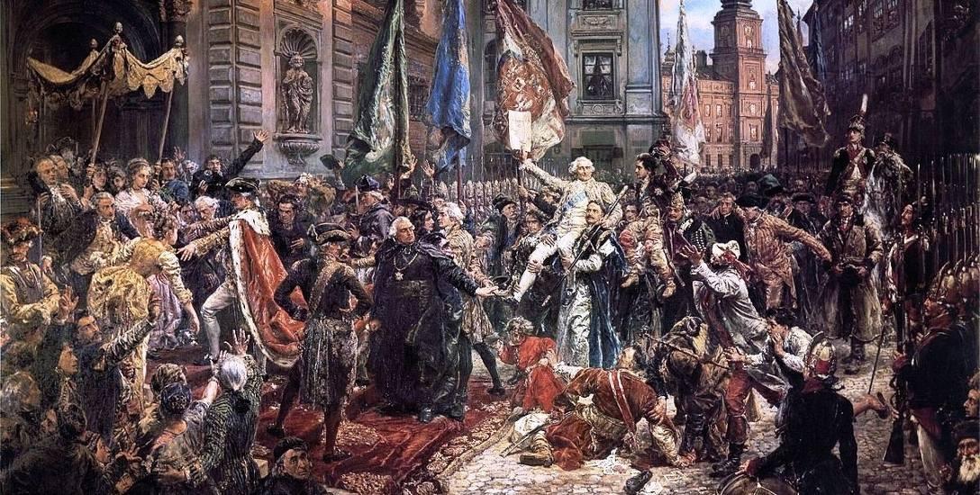 """Obraz """"Konstytucja 3 maja"""" Jan Matejko namalował w 1891 roku – w stulecie jej uchwalenia."""