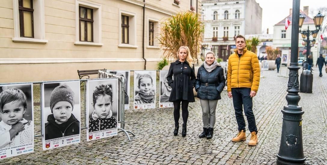 Anita, Dorota i Michał - organizatorzy wyjątkowej wystawy.