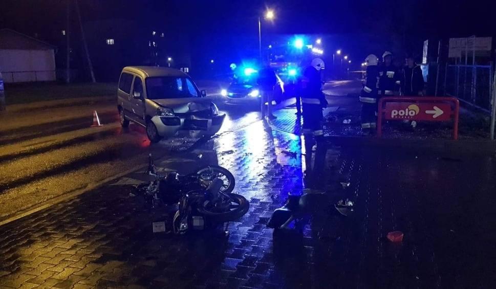 Film do artykułu: W Koronowie wydarzył się wypadek z udziałem motorowerzysty