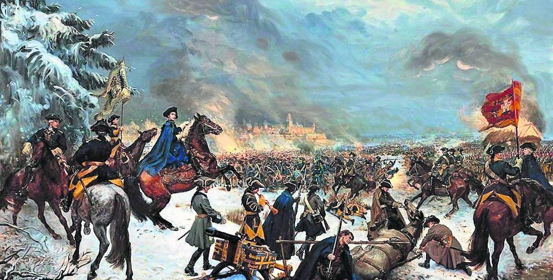 Karol XII ze swoimi oddziałami
