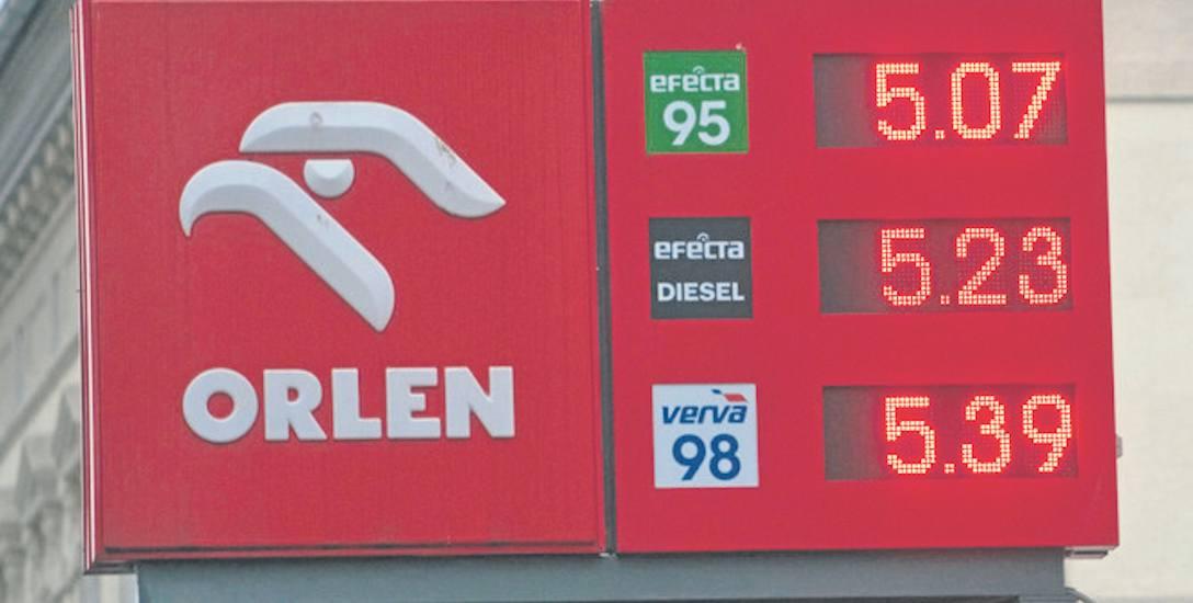Wtorkowy cennik na stacji Orlen w Koszalinie. Litr oleju napędowego kosztował tu aż 16 groszy więcej niż litr benzyny