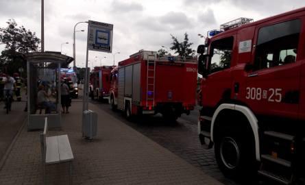 Pożar na Krzywoustego. Jedna osoba trafiła do szpitala