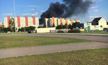 Pożar w Sosnowcu