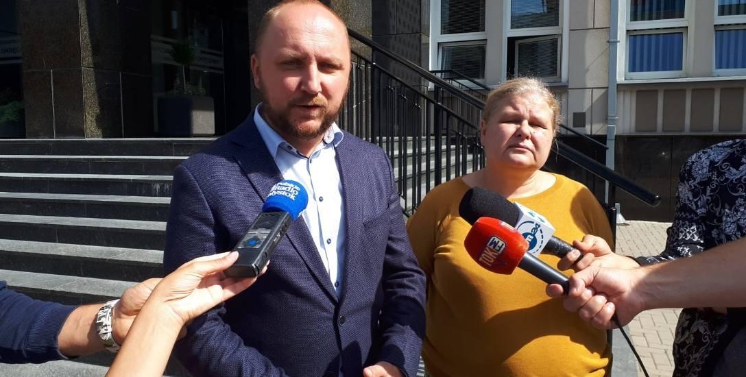 Łukasz Prokorym i Katarzyna Bagan-Kurluta z klubu radnych Koalicji Obywatelskiej chcą by rada miasta przyjęła stanowisko w sprawie sędziego Krystiana