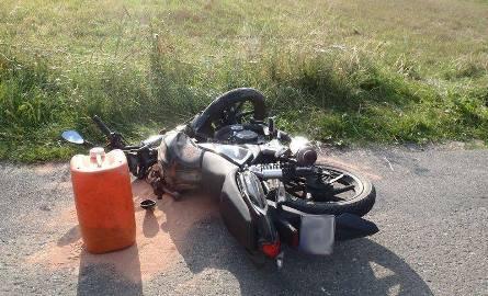 Wypadek w Barcicach. Motocyklista w szpitalu [ZDJĘCIA]