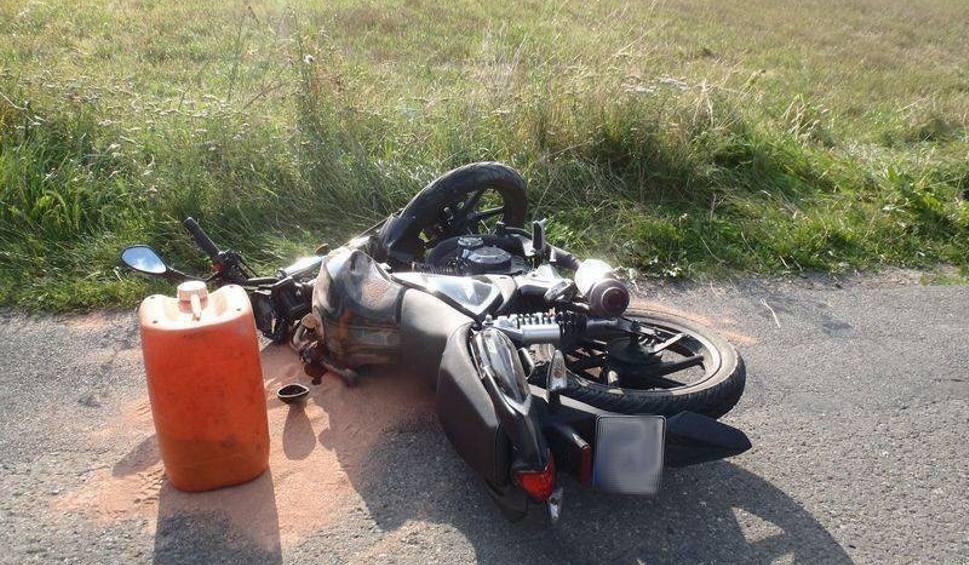 Film do artykułu: Wypadek w Barcicach. Motocyklista w szpitalu [ZDJĘCIA]