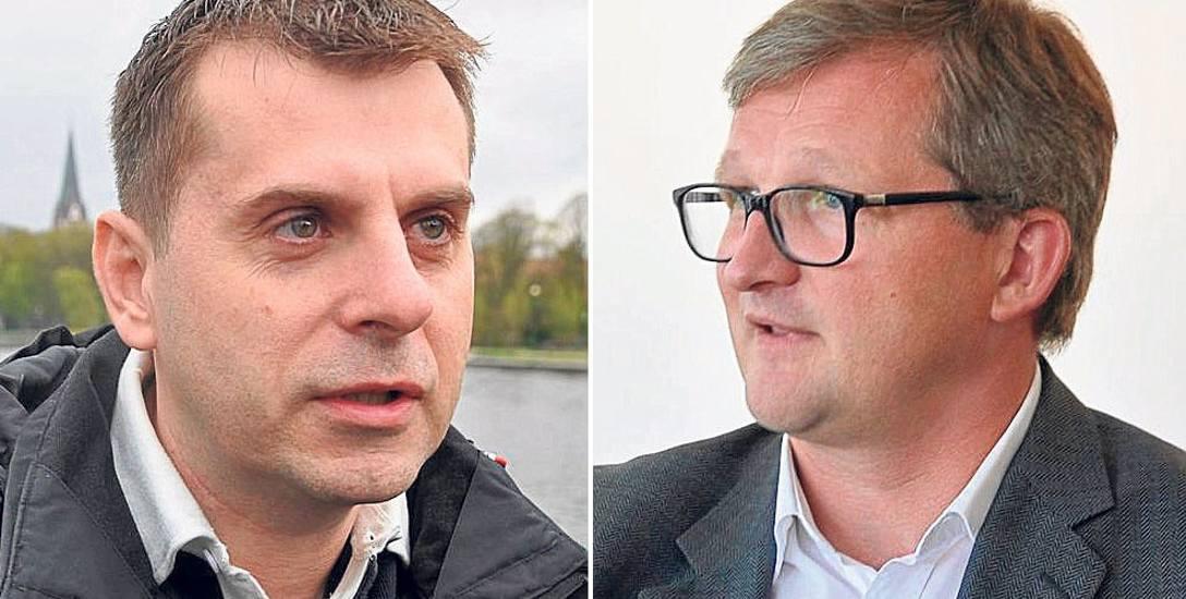 Piotr Misztak, były szef Szczecineckiej Lokalnej Organizacji Turystycznej (z lewej)Robert Duszyński, były prezes Aqua Turu. Obaj stracili stanowiska