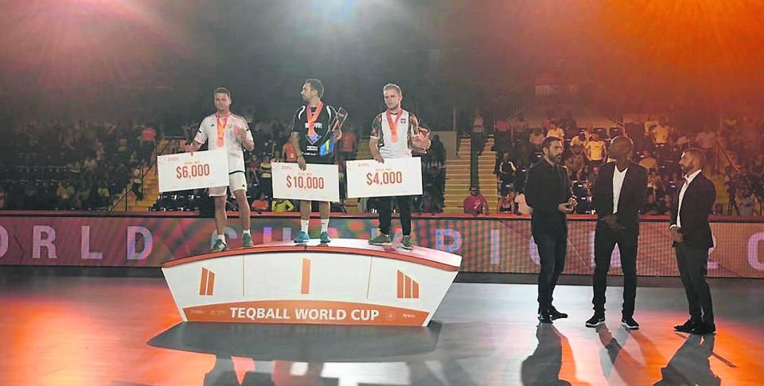 Adrian Duszak z Dylewa wywalczył brąz na Mistrzostwach Świata w Teqball we Francji