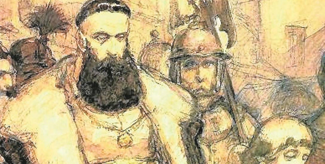 Samuel Zborowski prowadzony na śmierć, Jan Matejko, 1860 r.