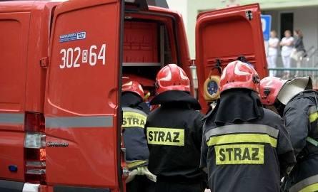 Na miejsce zostały wysłane cztery zastępy straży pożarnej.