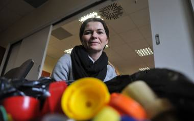 Justyna Gil z SP 20 w Gorzowie przywiozła do redakcji nakrętki, które zabrała ze swoimi uczniami z grupy przedszkolnej 061