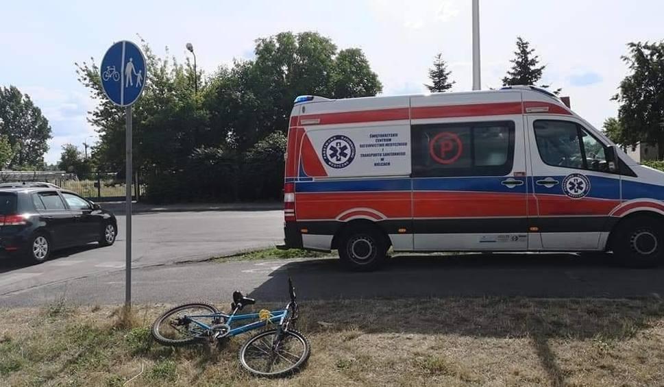 Film do artykułu: Wypadek na ścieżce rowerowej w Ostrowcu. Potrącił jadące dziecko i uciekł. Szuka go policja