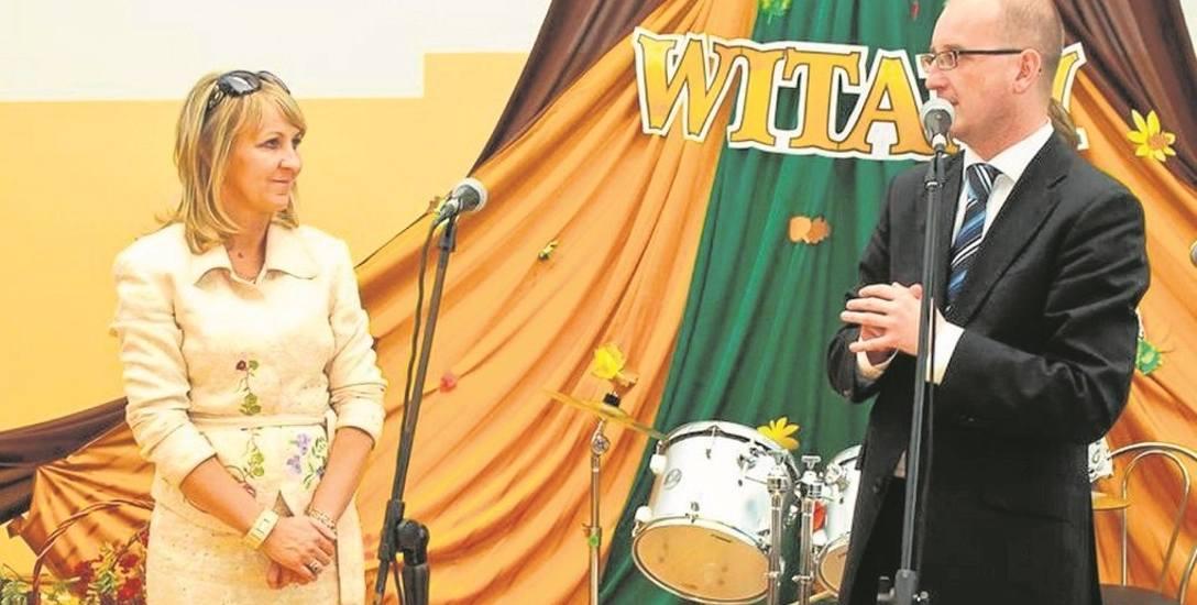 Małgorzata Gromala, wójt Podegrodzia, prezes Wspólnej Małopolski i Witold Latusek (zdjęcie z 2012 r.)