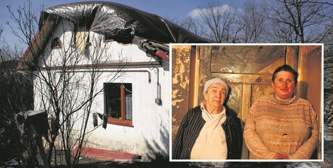 Pani Zofia z synową Agatą wierzą, że z pomocą dobrych ludzi, jeszcze postawią nowy dom
