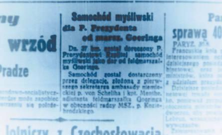 Znalezione obrazy dla zapytania Mercedes dla Moscickiego od Goeringa zdjecia