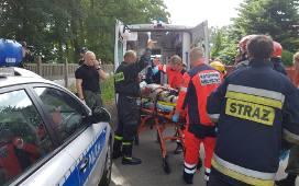 Katastrofa lotnicza w Łodzi. Ciężko ranny pilot po tym, jak spadła cesna