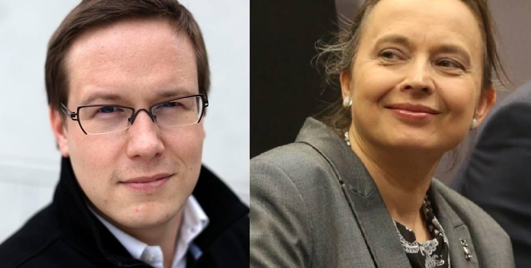 Dr Błażej Sajduk, ekspert z Klubu Jagiellońskiego oraz Katarzyna Hall, była minister edukacji narodowej