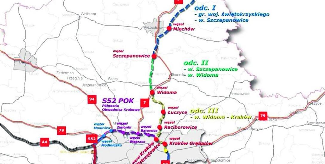 Północna obwodnica Krakowa i S7 na północ od miasta to największe inwestycje na najbliższe lata