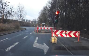 Najwięcej pojazdów jedzie rano od strony ulicy Ludowej.  Nie ma tłoku od strony wiaduktu na ul .Druckiego-Lubeckiego