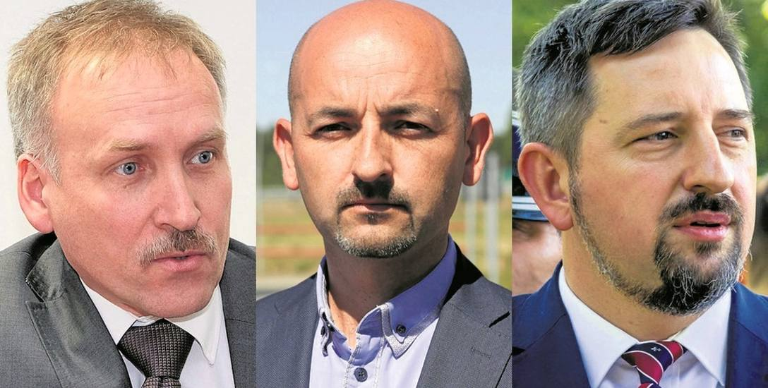 Od lewej: Jacek Chrulski, burmistrz Czarnej Białostockiej; Robert Wardziński, burmistrz Choroszczy; Radosław Dobrowolski burmistrz Supraśla