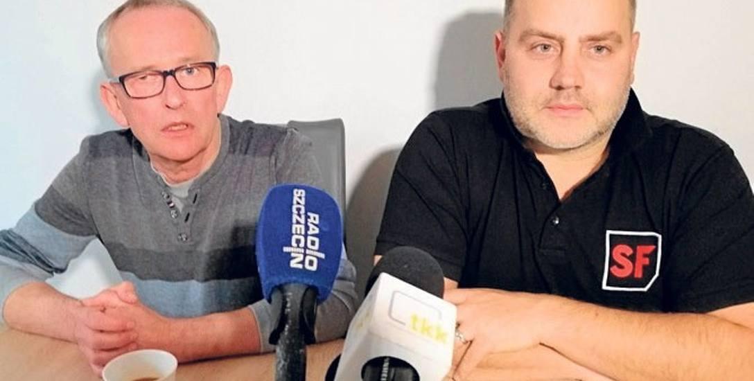 Od lewej: Roman Łangowski (spółka Amfiteatr) i główny organizator festiwalu Krzysztof Bartyzel (MDT-Production)