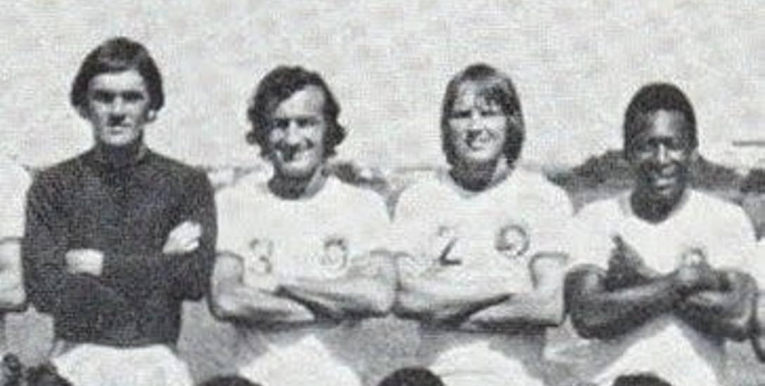 Kazimierz Sularz, pierwszy z lewej. Pierwszy z prawej - Pele