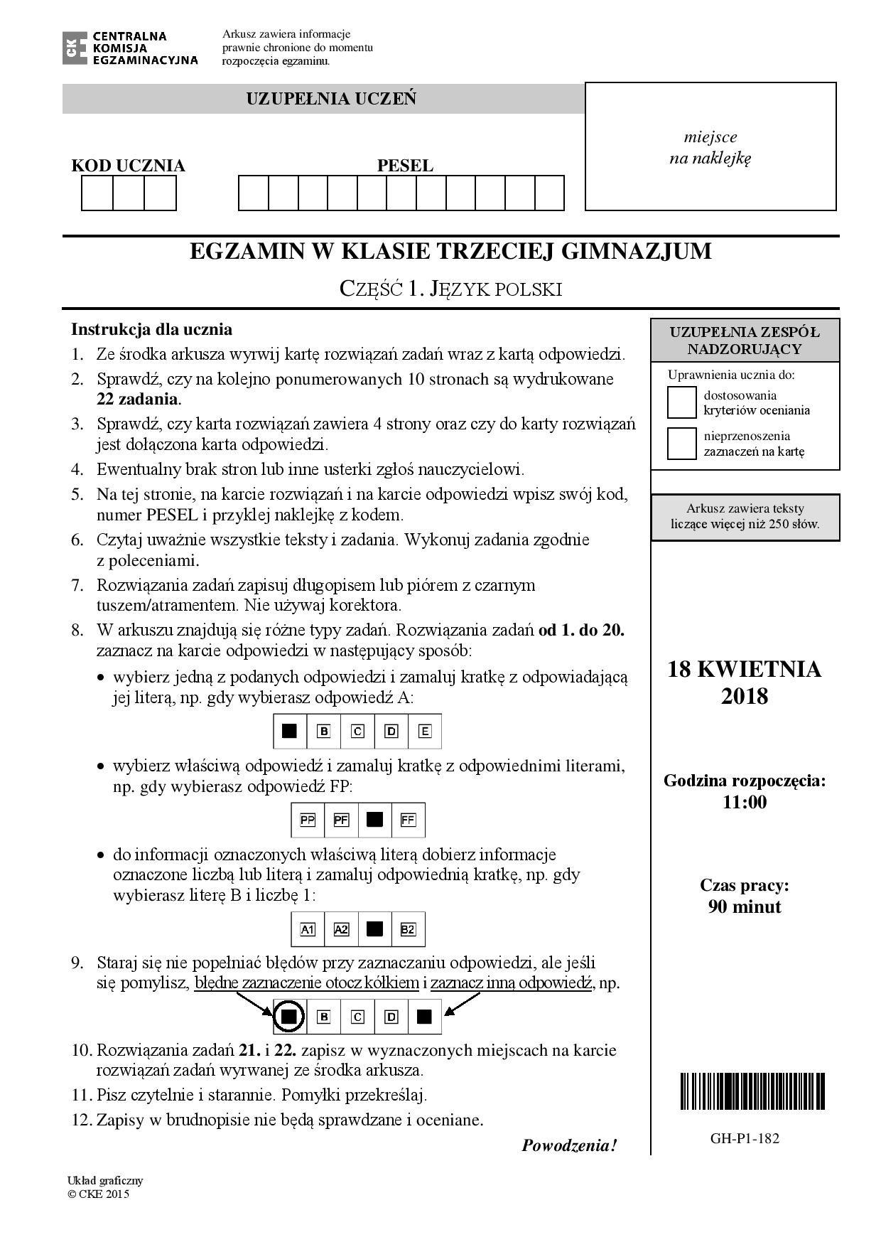 chemia 7 klasa sprawdzian