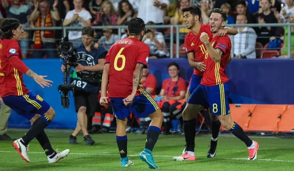 Film do artykułu: Euro U-21 2017. Mechaniczna pomarańcza. Saul wprowadził Hiszpanię do finału, Włochów wysłał do domu