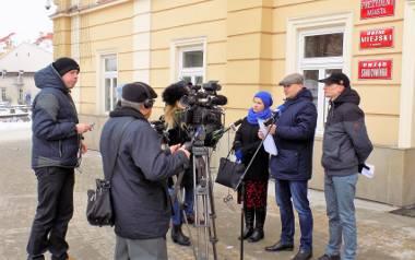 Piątkowa konferencja prasowa w sprawie poparcia dla prezydenta Przemyśla.