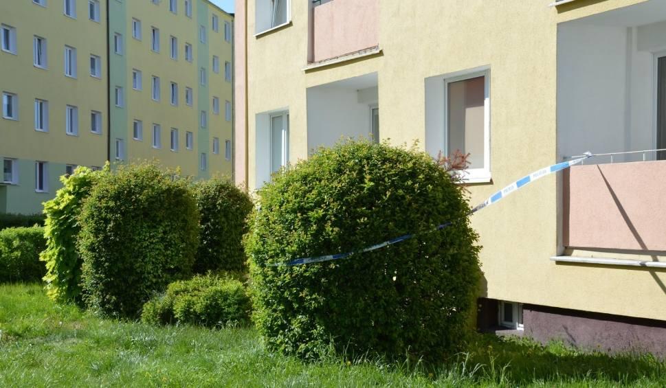"""Film do artykułu: Śmierć kobiety w Lęborku. W jednym z bloków przy ul. Jagiellońskiej znaleziono ciało mieszkanki. Policja: """"Prawdopodobnie to zabójstwo"""""""