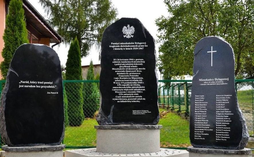Pamięci ofiarom II wojny światowej i ukraińskiego nacjonalizmu - Dylągowa