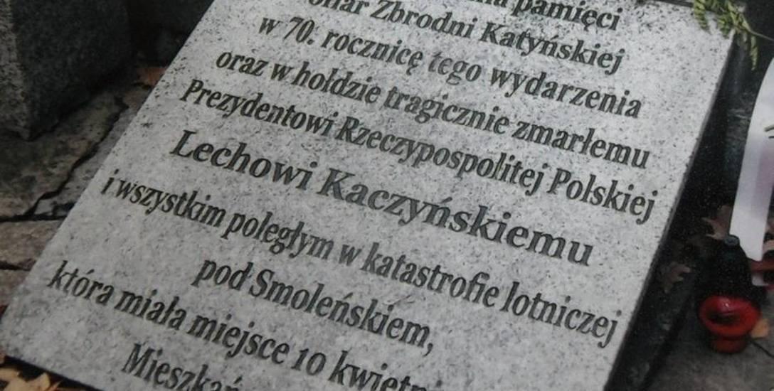 W Śląskiem jest wiele miejsc pamięci ofiar katastrofy smoleńskiej