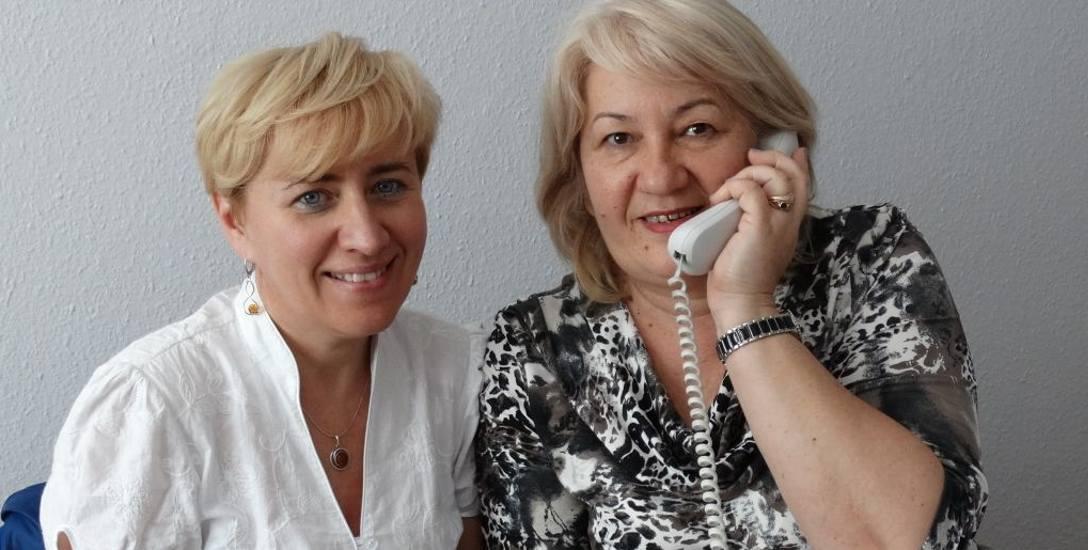 Renty - o prawach do ich uzyskania mówiły: Violetta Sadowska (po lewej) i Regina Siudzińska z Wydziału Świadczeń Emerytalno-Rentowych w oddziale ZUS