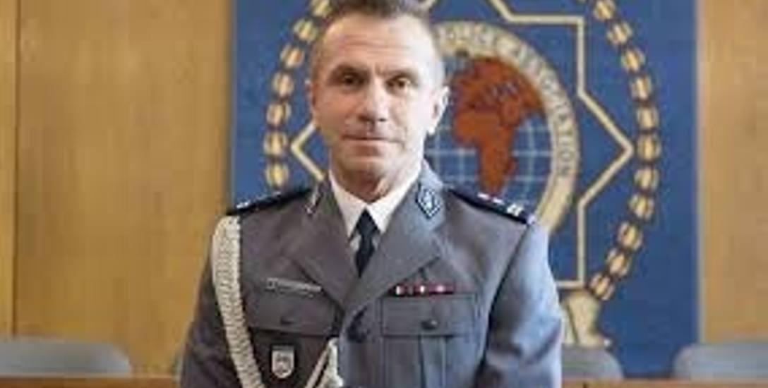 Maciej Lewandowski, komendant miejski policji w Toruniu